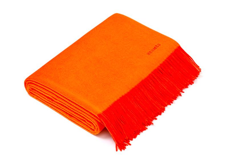 Hermes double face cashmere blanket