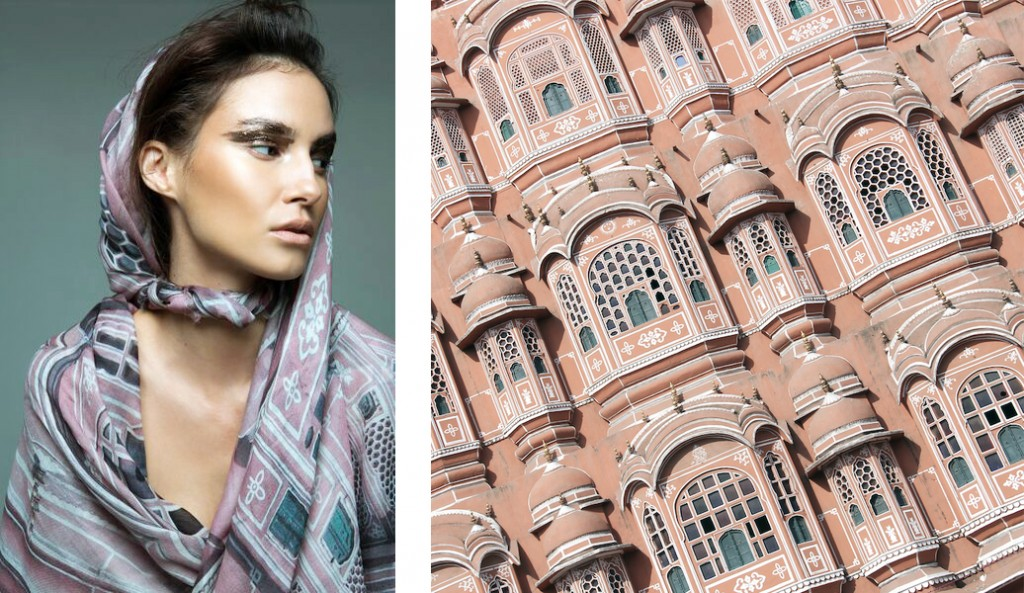Pink City Cashmere Scarf by Take Me To New York