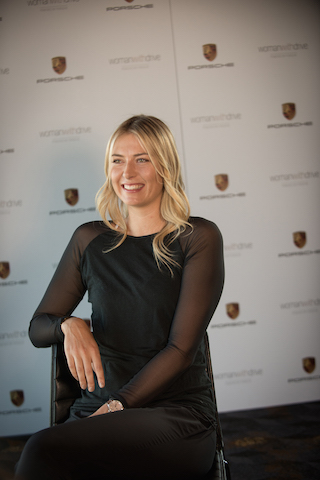 Maria Sharapova and woman with drive Interview